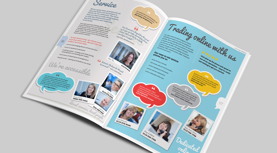 One Commercial Brochure | Fiona Grimshaw Graphic Designer